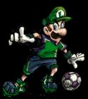 Super Mario Strikers Artwork: Luigi