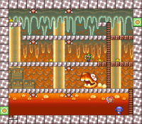 Level 5-4 map in the game Mario & Wario.