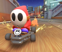 The icon of the Waluigi Cup challenge from the 2019 Paris Tour in Mario Kart Tour
