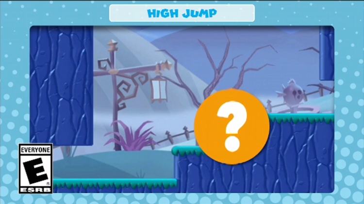 A frame of the video shown with the fifth question in Mini Mario & Friends: amiibo Challenge Trivia Quiz
