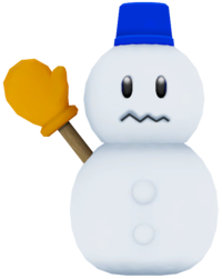 A model of Mr. Blizzard from Mario Party 9.