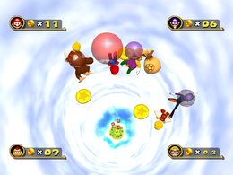 Gameplay of Paratrooper Plunge from Mario Party 4