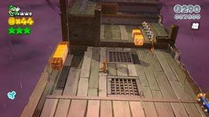 Hidden Luigi found in Spooky Seasick Wreck in Super Mario 3D World.