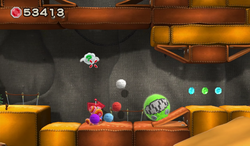 Yoshi Woolly World level Walk the Chomp to Unwind.