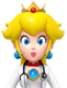 Sprite of Dr. Fire Peach from Dr. Mario World