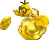 Artwork of a Golden Lakitu from New Super Mario Bros. 2