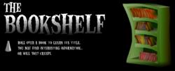 "A screenshot of the ""Bookshelf"" activity from the Luigi's Mansion website"