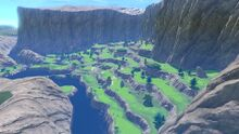 View of Ridgerock Lake in Mario Golf: Super Rush