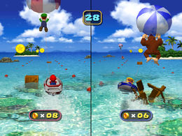 Wario in Pair-a-Sailing from Mario Party 4