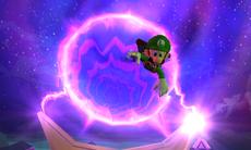 Luigi being sucked into the paranormal portal