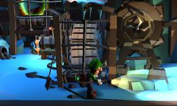 The Pit Mine segment from Luigi's Mansion: Dark Moon.