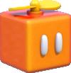 Artwork of a Propeller Box from Super Mario 3D World.