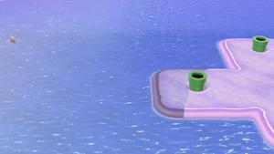 Luigi sighting in World 5 of Super Mario 3D World