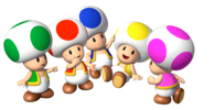 Artwork of the group of Toads
