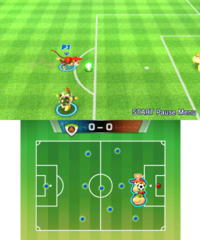 Free Training in soccer in Mario Sports Superstars