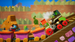 Whistlestop Rails stage from Yoshi's Crafted World
