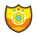 Princess Daisy's emblem from soccer from Mario Sports Superstars