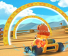 The icon of the Baby Mario Cup challenge from the 2020 Winter Tour in Mario Kart Tour