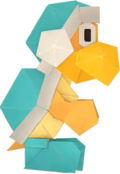 An origami Ice Bro from Paper Mario: The Origami King.