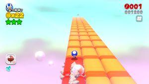 Hidden Luigi in The Great Goal Pole in Super Mario 3D World.