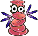 Sprite of a Heavy Cursya from Super Paper Mario.