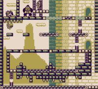 Stage 9-3 of Donkey Kong for the Game Boy