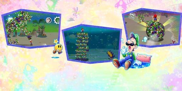 Banner for a Play Nintendo opinion poll on which Luiginary Attack from Mario & Luigi: Dream Team to use. Original filename: <tt>2x1_MLDT_attack_v01.0290fa98.jpg</tt>