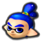 Male Inkling's head icon in Mario Kart 8 Deluxe.