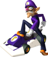 Waluigi artwork from Mario Kart DS