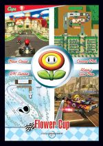 The Flower Cup card from the Mario Kart Wii trading cards