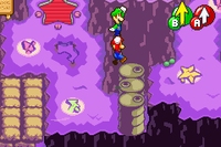 Mario and Luigi performing the High Jump in Mario & Luigi: Superstar Saga and Mario & Luigi: Superstar Saga + Bowser's Minions
