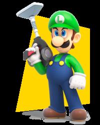 Artwork of Luigi in Mario + Rabbids Kingdom Battle.