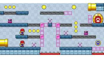 Miiverse screenshot of the 19th official level in the online community of Mario vs. Donkey Kong: Tipping Stars