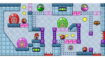 Miiverse screenshot of the 61st official level in the online community of Mario vs. Donkey Kong: Tipping Stars