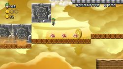 Screenshot of P Switch Peril in New Super Luigi U.