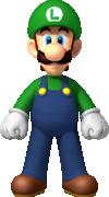 Artwork of Luigi from New Super Mario Bros. Wii.