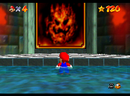 Mario entering the painting of Lethal Lava Land