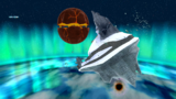 "A screenshot of Freezeflame Galaxy during ""The Frozen Peak of Baron Brrr"" mission from Super Mario Galaxy."