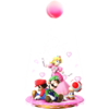 Peach Blossom's trophy render from Super Smash Bros. for Wii U