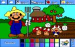 Mario as a farmer.