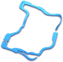 Map of <small>Wii</small> Wario's Gold Mine in Mario Kart 8.