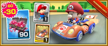 The Super 1 Pack from the Mario Bros. Tour in Mario Kart Tour