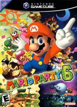 North American box art for Mario Party 6