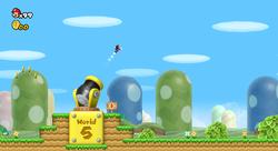 The Warp Cannon of World 1 (New Super Mario Bros. Wii)