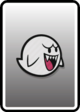 A Boo card from Paper Mario: Color Splash