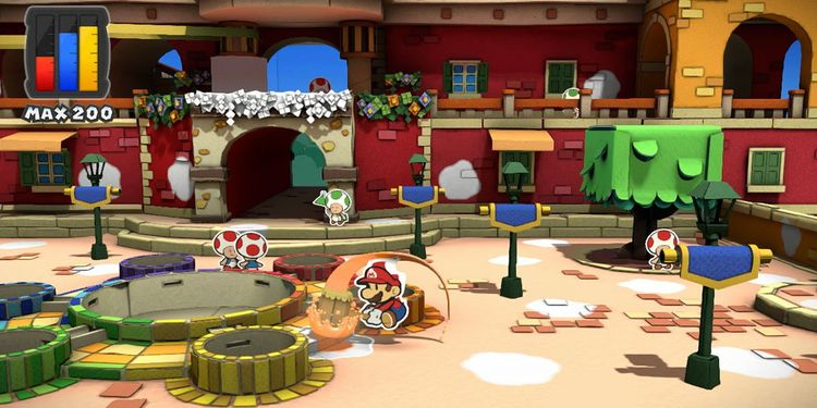 Picture shown with the fourth question of Paper Mario: Color Splash Personality Test