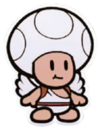 Artwork of a Shangri-Spa Toad from Paper Mario: The Origami King