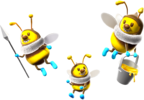 Artwork of Bees from Super Mario Galaxy