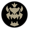 Dry Bowser emblem from Mario Kart 8