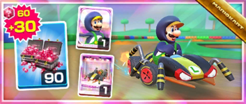 The Crawly Kart Pack from the Ninja Tour in Mario Kart Tour